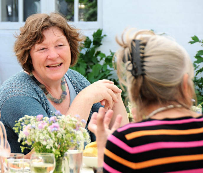 Hanne Thordsen og Else Hjorth har samarbejdet om meget på Drejø